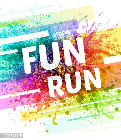 istock Fun Run Poster 1159704418