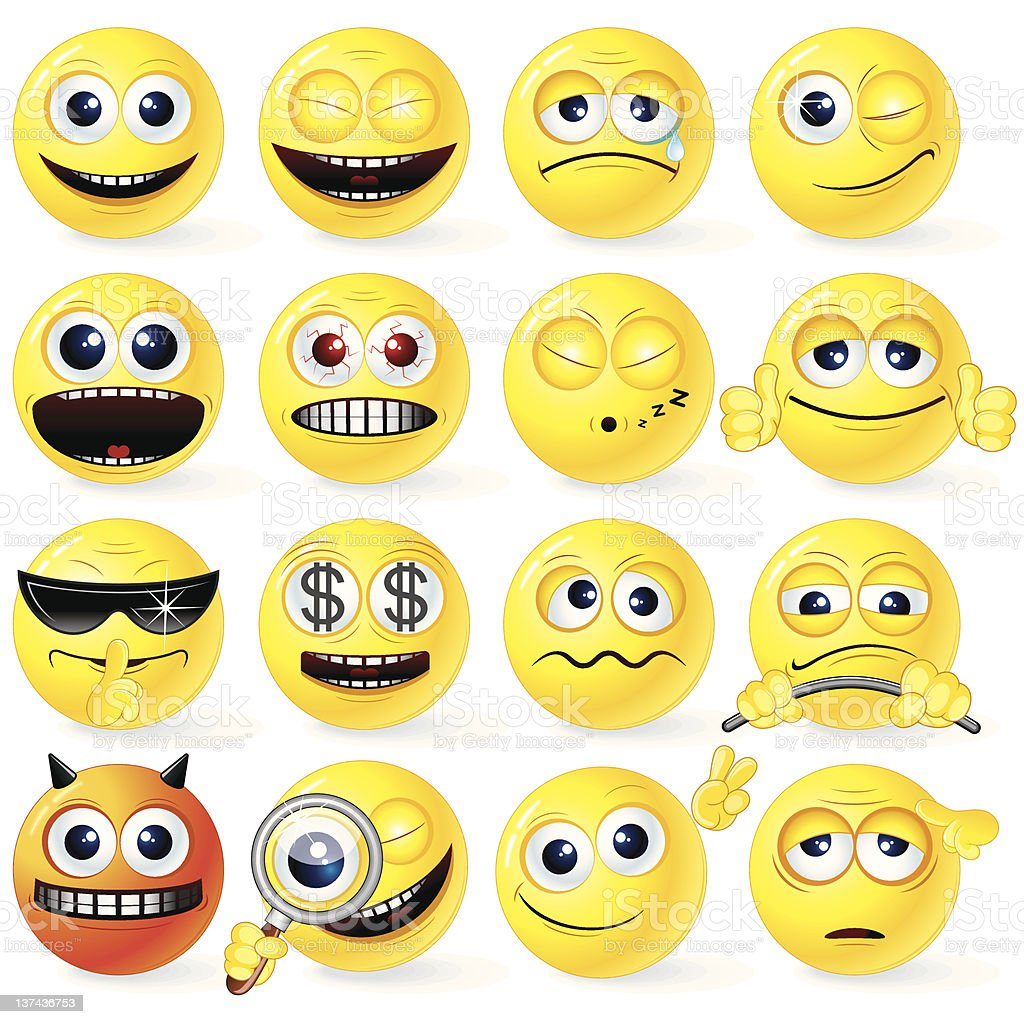 Fun Smileys and Emoticons. royalty-free fun smileys and emoticons stock vector art & more images of anger
