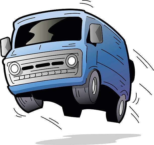 Fun Van vector art illustration