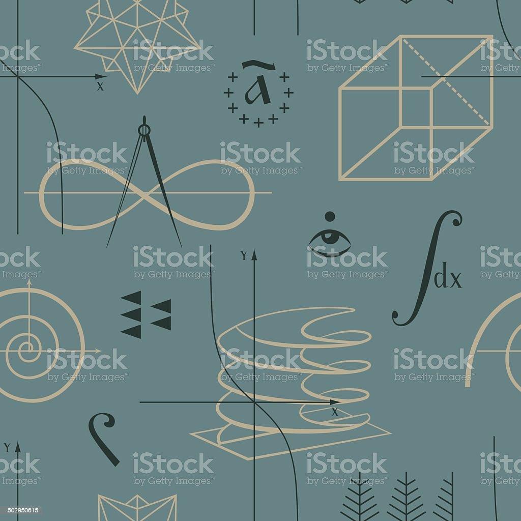 Functions seamless pattern vector art illustration