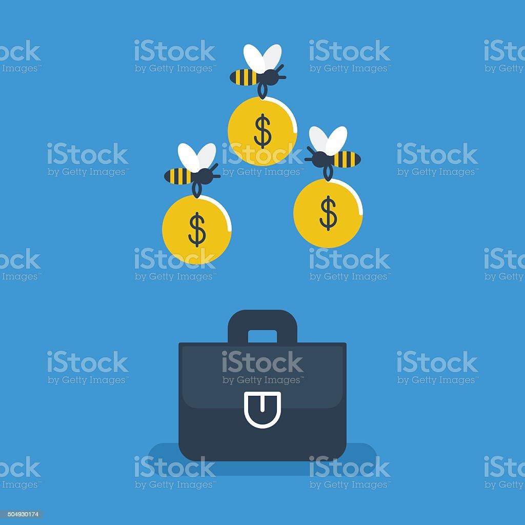 Funding concept. vector art illustration
