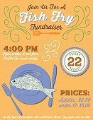 Fundraiser Fish Fry Poster Template