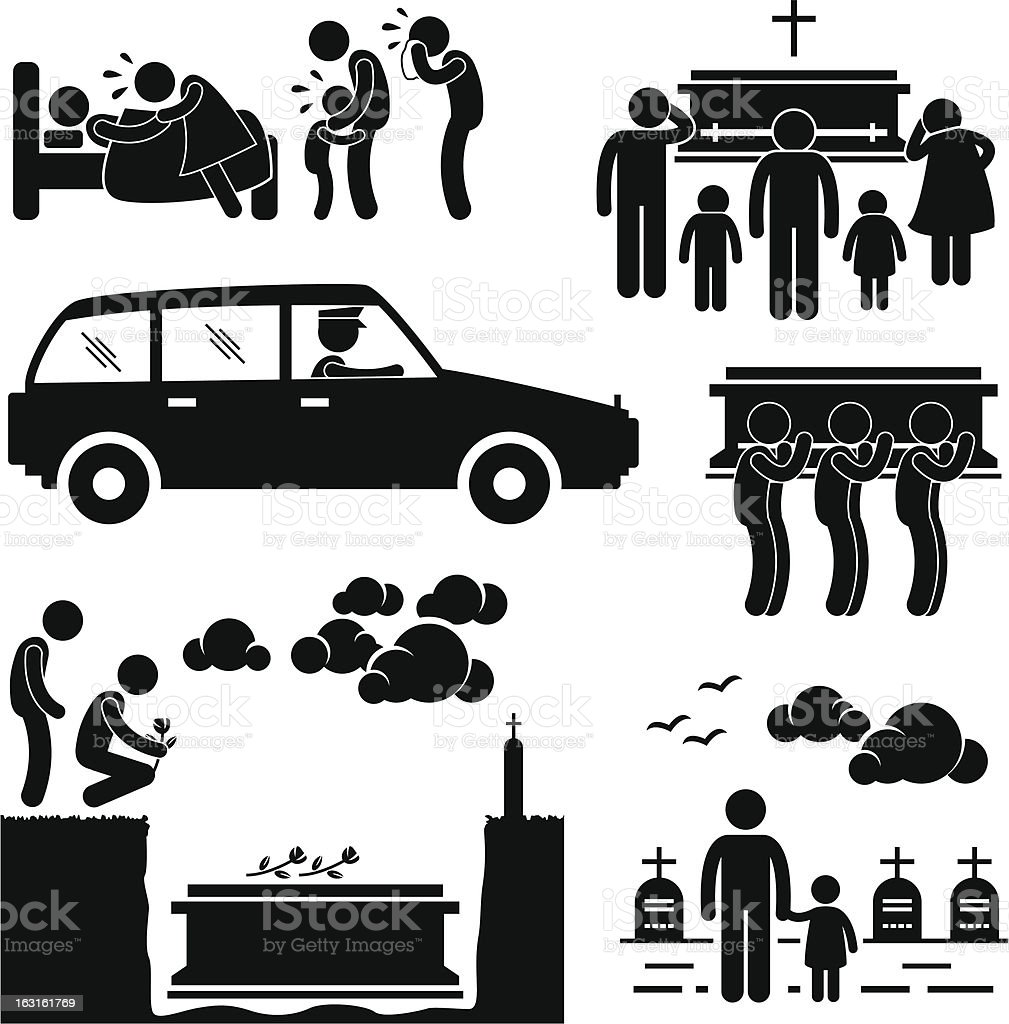 Funeral Burial Ceremony Pictogram royalty-free funeral burial ceremony pictogram stock vector art & more images of absence