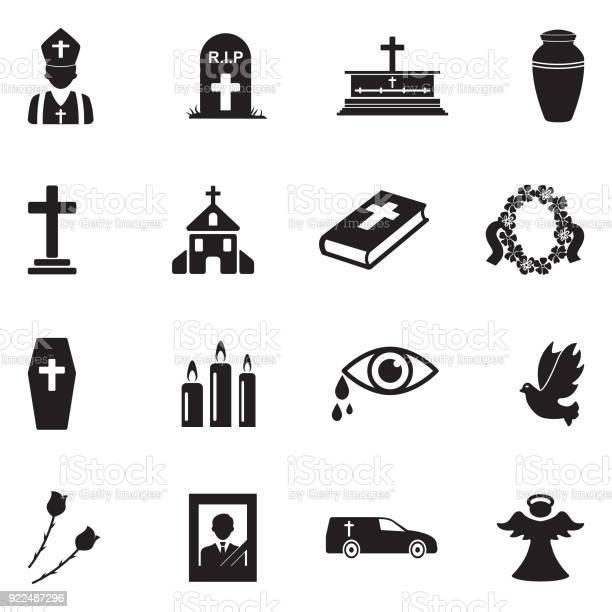 Funeral icons black flat design vector illustration vector id922487296?b=1&k=6&m=922487296&s=612x612&h=eyggxwwxfmkku v0fmgbomkshjucqbhkpq6flmjwz 8=