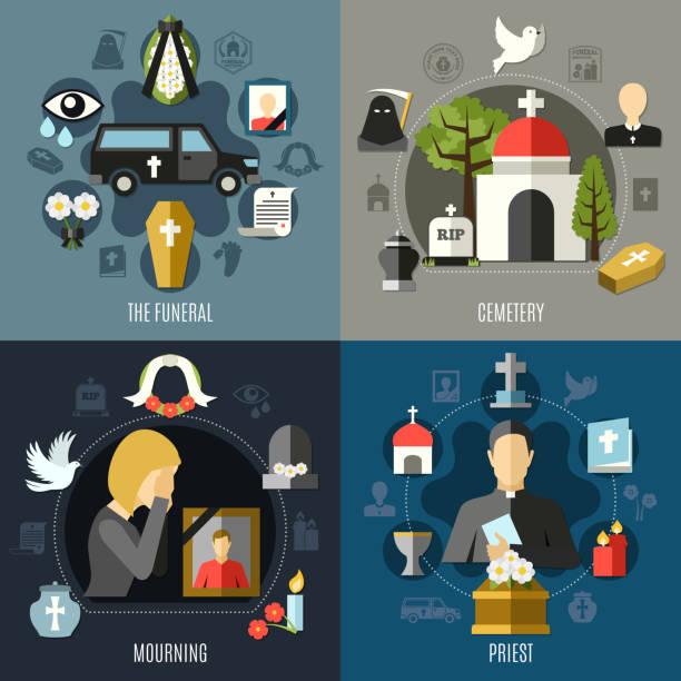bildbanksillustrationer, clip art samt tecknat material och ikoner med begravning - ljus på grav