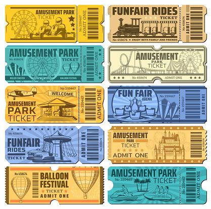 Funfair carnival and amusement park tickets