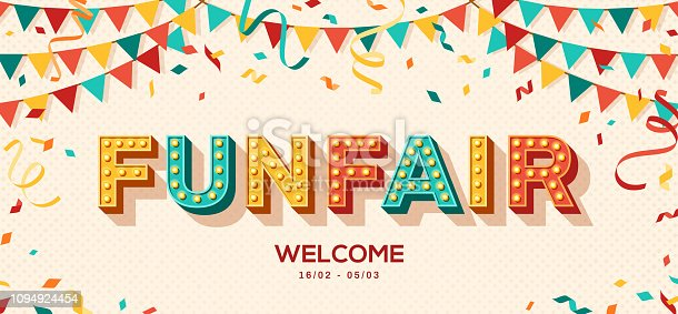 istock Funfair retro typography design 1094924454