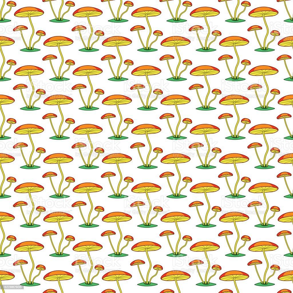 Fungi pattern vector art illustration
