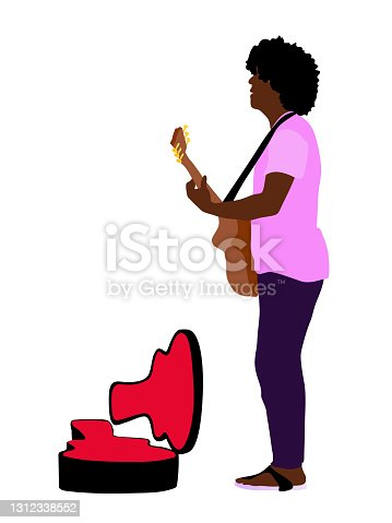 istock Funk Musician Playing On The Street 1312338552