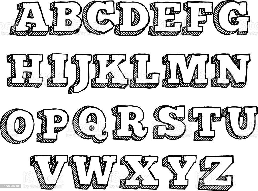 Funky lettre de lalphabet cliparts vectoriels et plus d 39 images de art 472320355 istock - Dessiner l alphabet ...