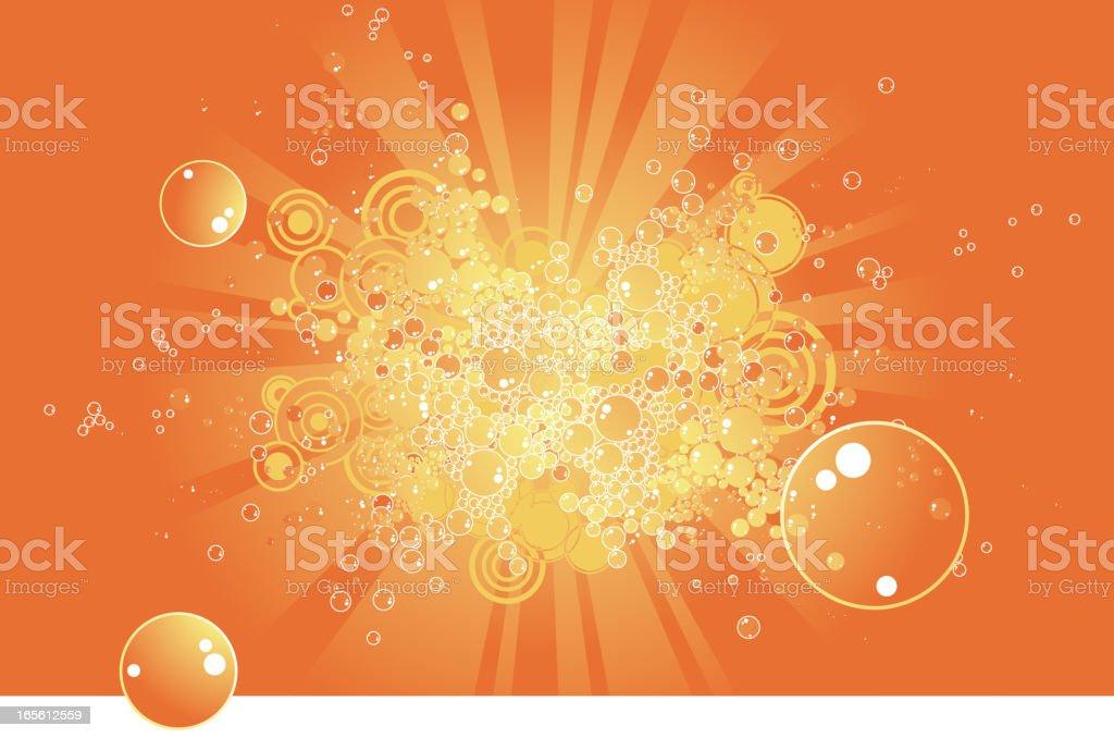 Funky burbujas - ilustración de arte vectorial