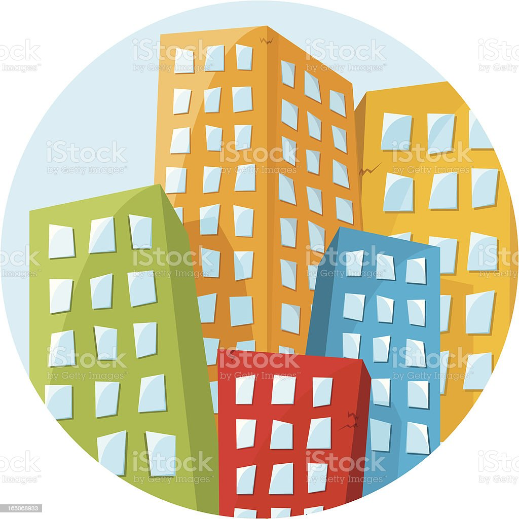 Funky Buildings royalty-free funky buildings stock vector art & more images of abstract