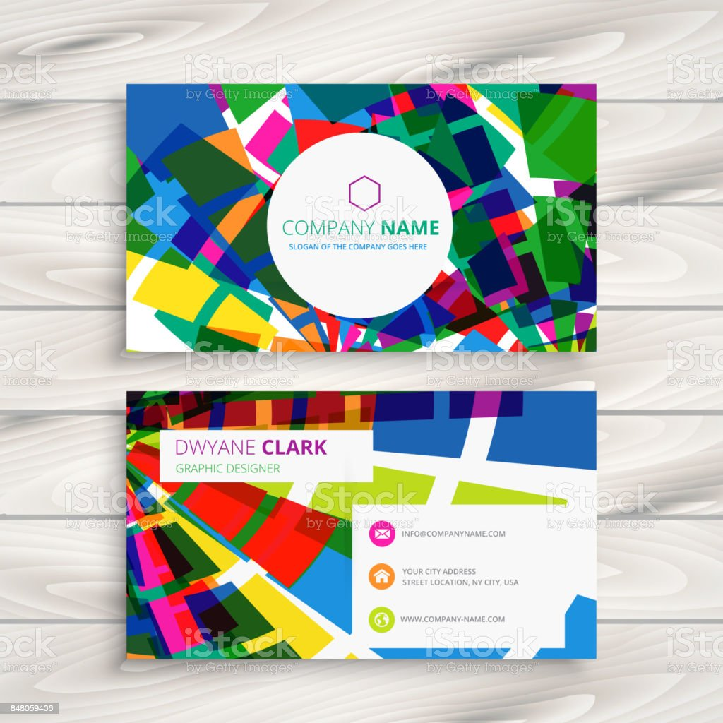 Funky Business Card Template Vector Design Illustration Stock Vector ...
