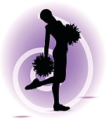 EPS 10 Vector illustration of funky cheerleader silhouette