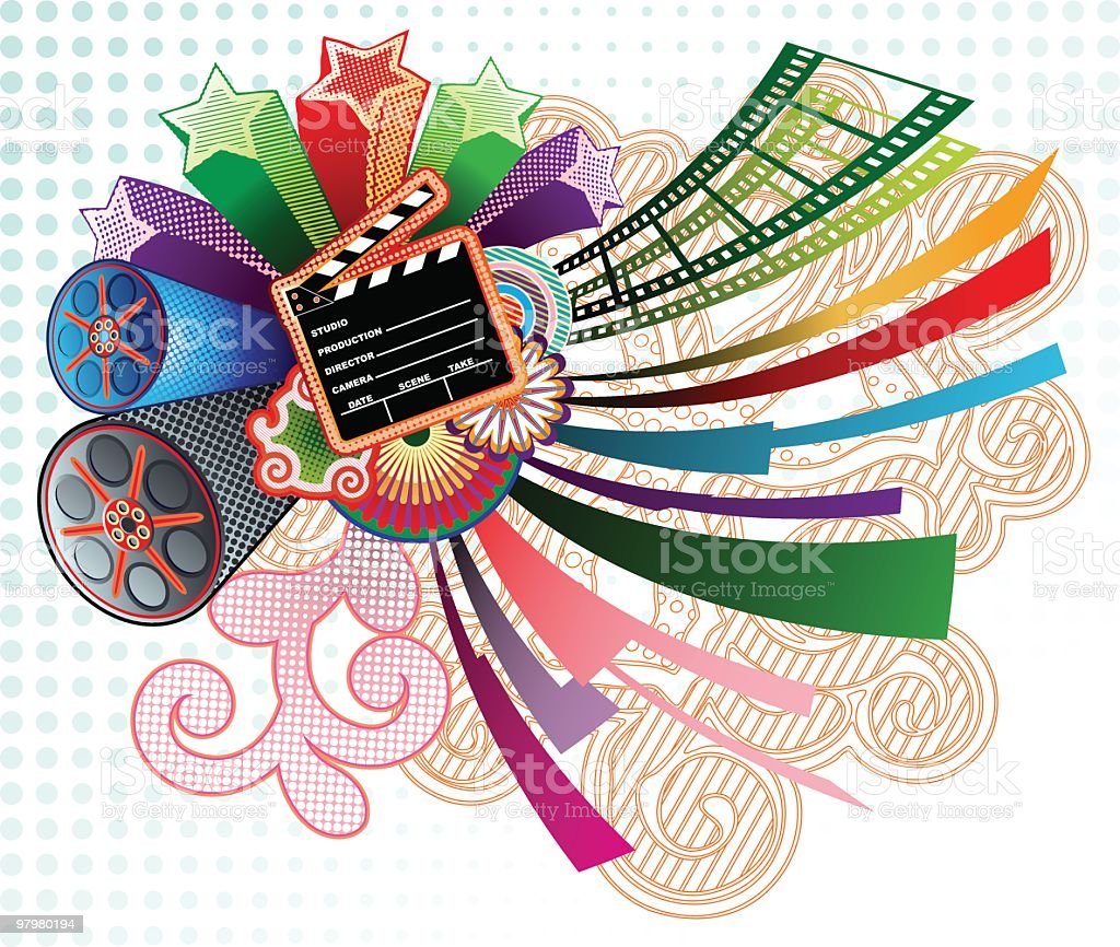 funky cinema composition royalty-free funky cinema composition stock vector art & more images of angle