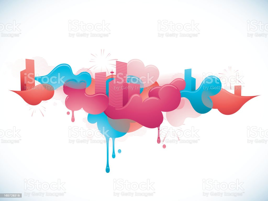 Funky City Banner royalty-free funky city banner stock vector art & more images of abstract