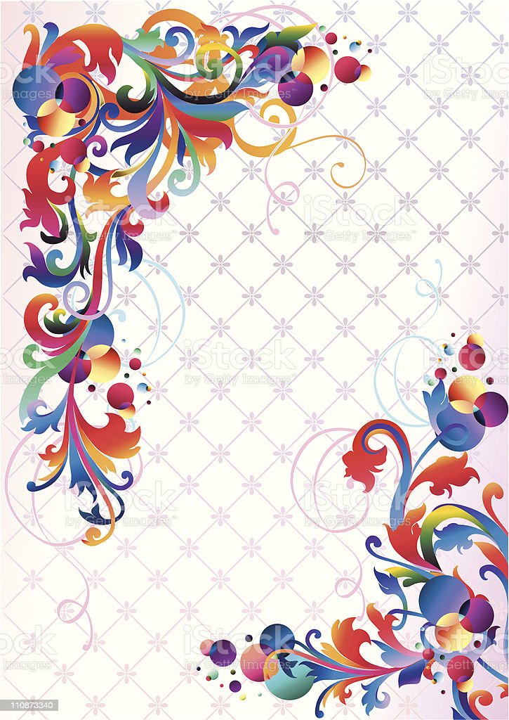 Funky decorative corners royalty-free stock vector art