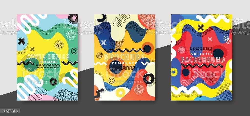 Flippiges Design Vorlage Fot print-Produkte. – Vektorgrafik