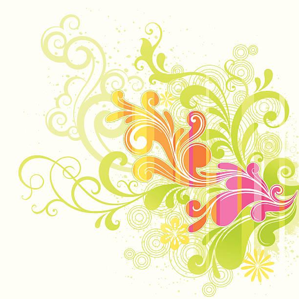 Funky Flourishes vector art illustration