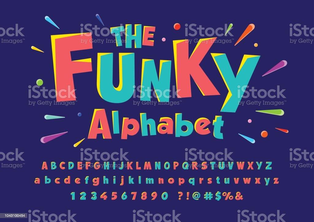 Letra de funky ilustración de letra de funky y más vectores libres de derechos de alegre libre de derechos