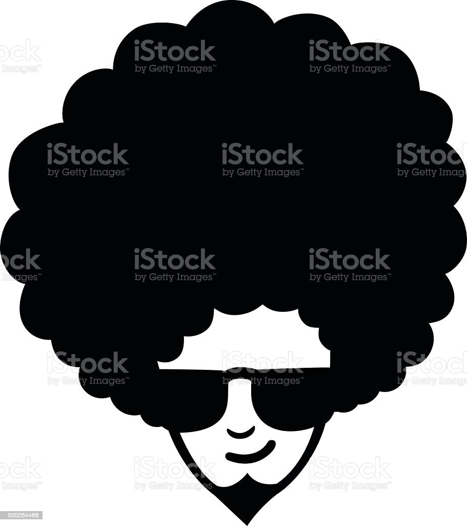 Funky Frizzy vector art illustration