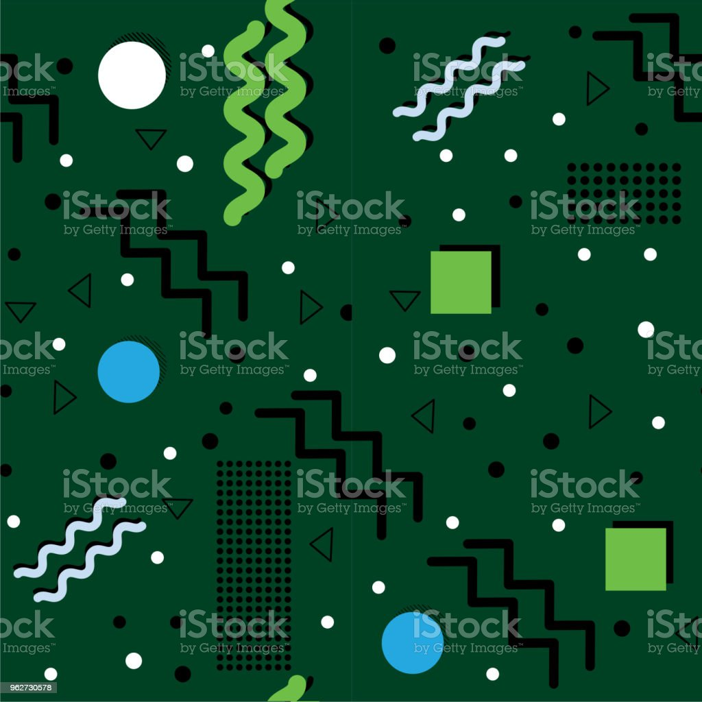 Funky Green retro Abstract vector art illustration