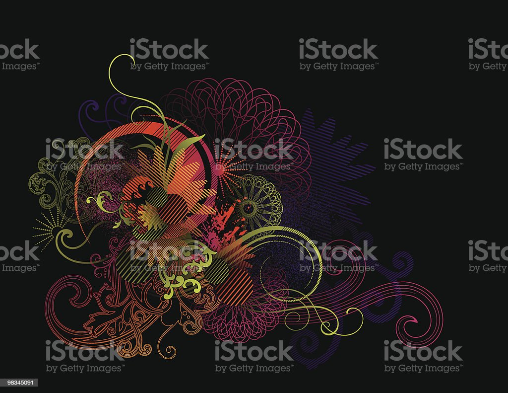 Funky in black royalty-free funky in black stock vector art & more images of abstract