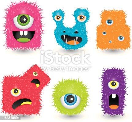 istock Funky monsters 165819894