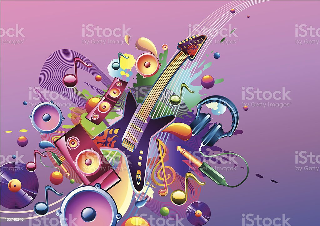 Funky music theme royalty-free stock vector art