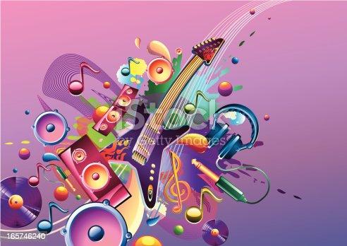 istock Funky music theme 165746240