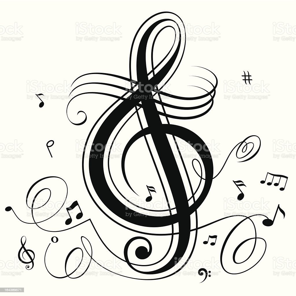 Funky Musical royalty-free stock vector art