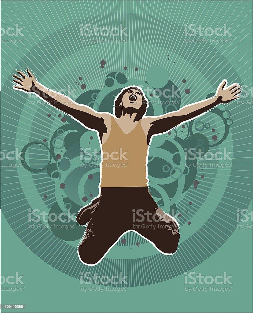 Funky person vector art illustration