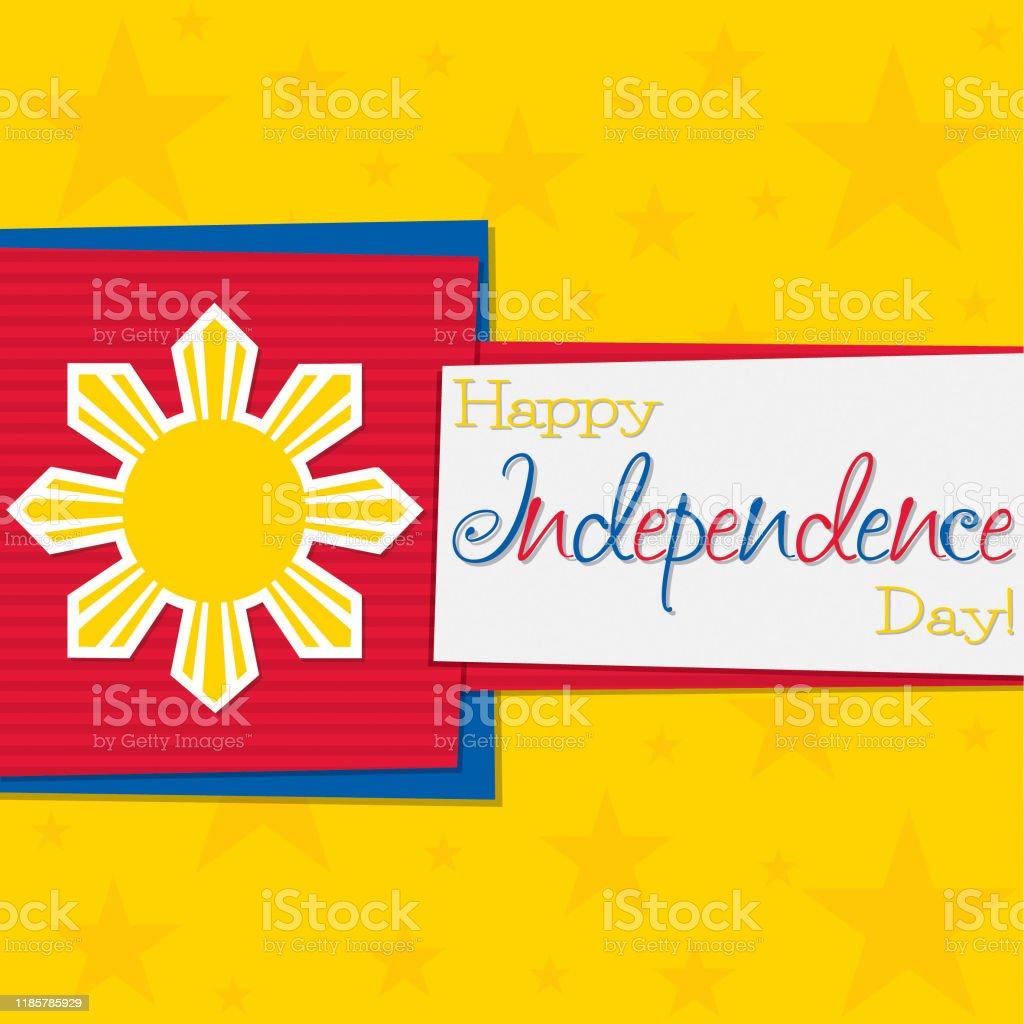 Philippine With Philippines Flag Symbol Stock Illustration