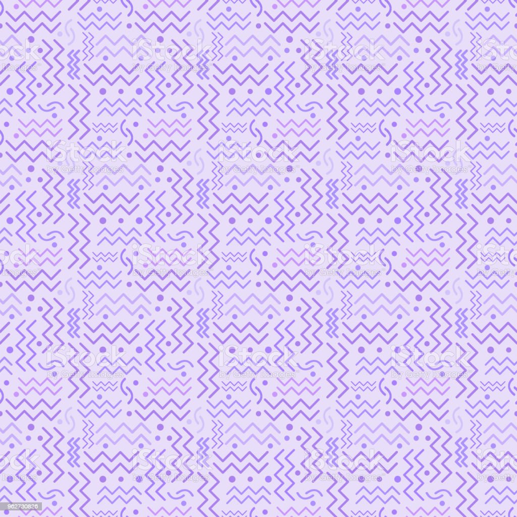 Funky Rainbow retro Pattern on Lavender vector art illustration