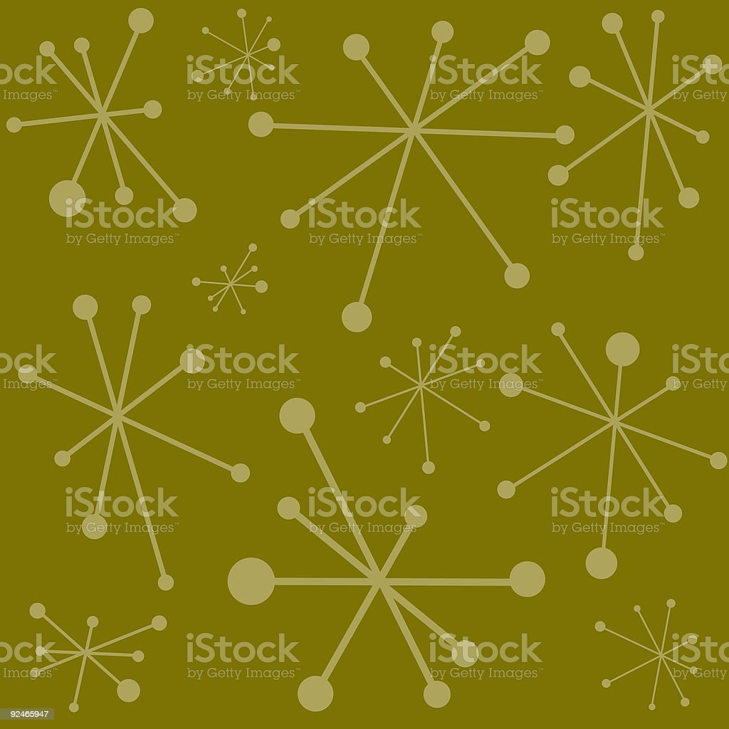 Funky Retro Green Background vector art illustration