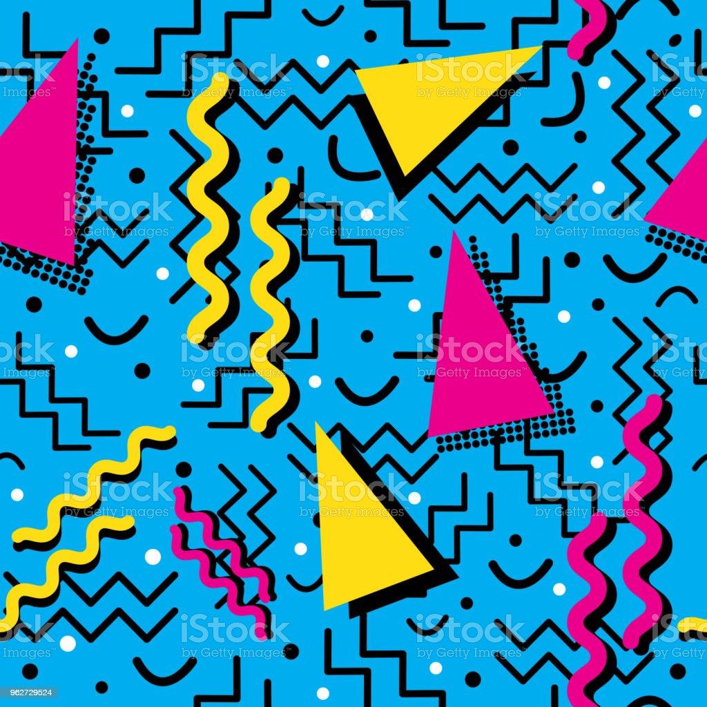 Funky retro Pattern on Cyan vector art illustration