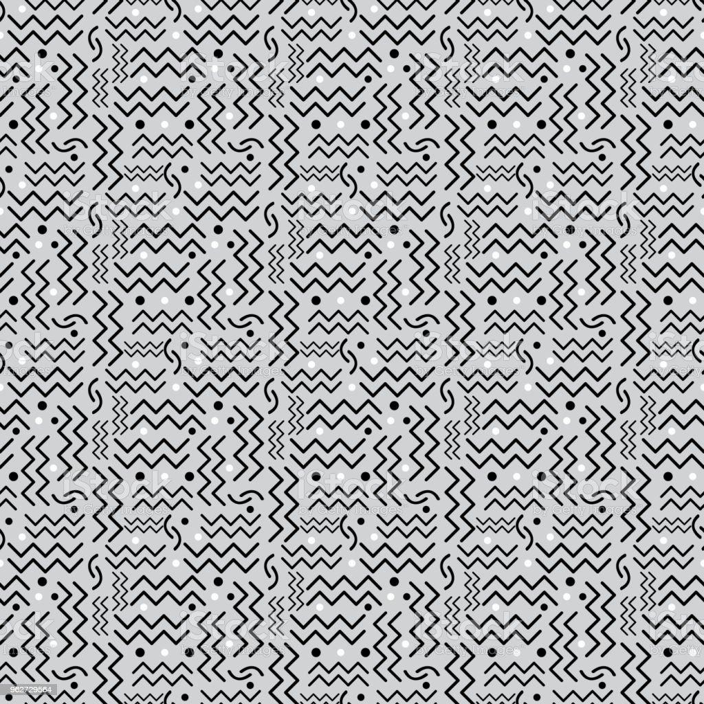 Funky retro Pattern on Gray vector art illustration