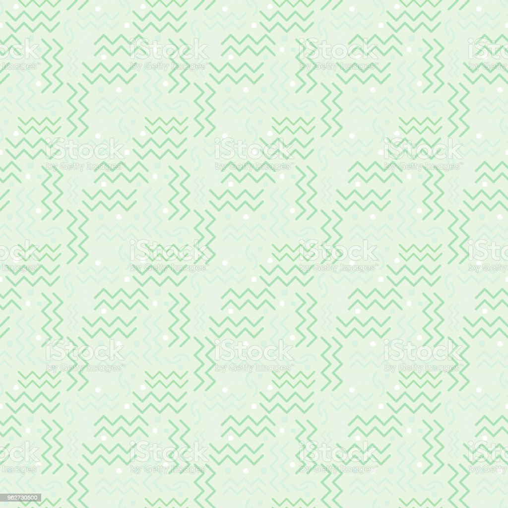 Funky retro Pattern on Pastel Green vector art illustration