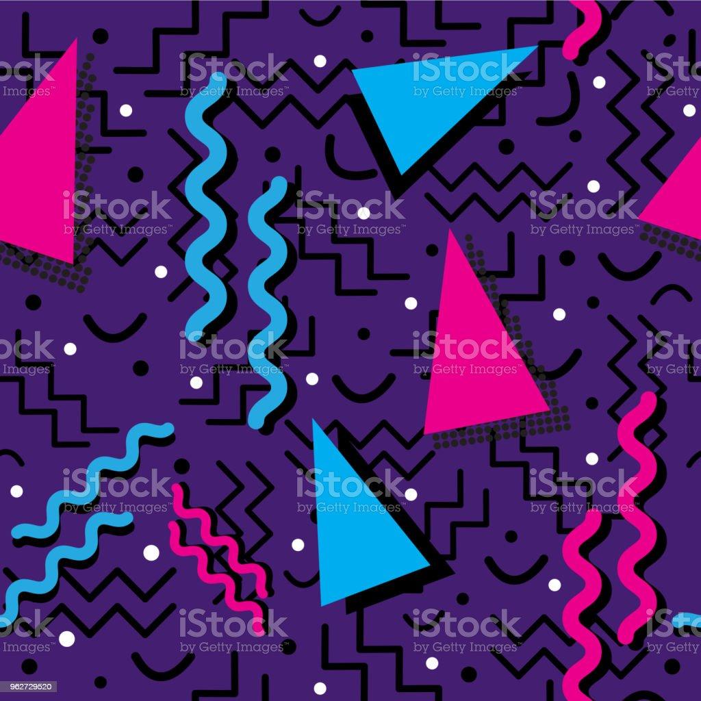Funky retro Pattern on Purple vector art illustration