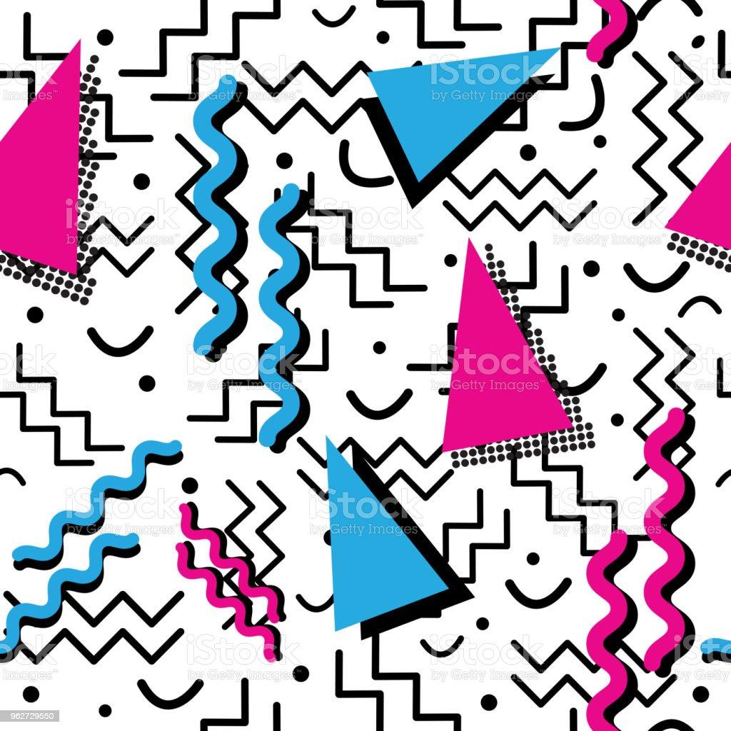 Funky retro Pattern on White vector art illustration