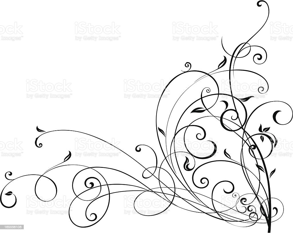 Funky Scroll royalty-free stock vector art
