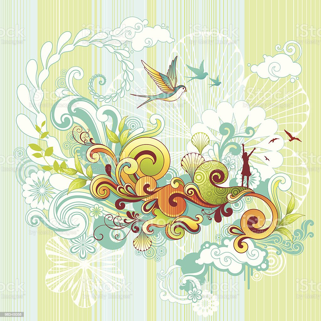 Funky Spring Swirls royalty-free funky spring swirls stock vector art & more images of adult