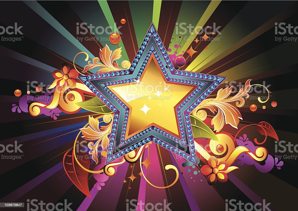 Funky Star royalty-free stock vector art