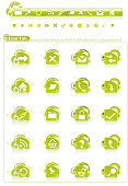 Funky Web icon: Lime Series