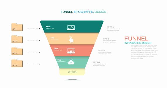 Funnel Diagram Template stock illustration Funnel, Infographic, Sale, Vector, Marketing