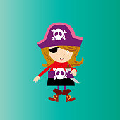 a funny childish picture of a pirate