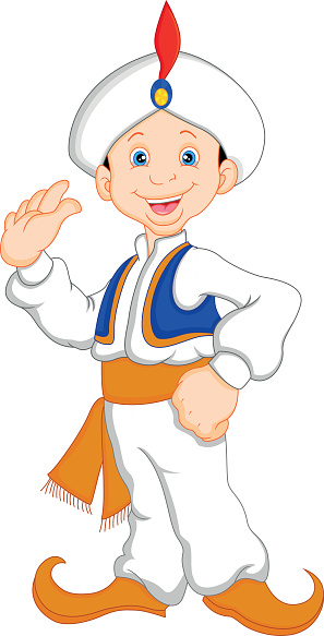 funny aladdin cartoon waving