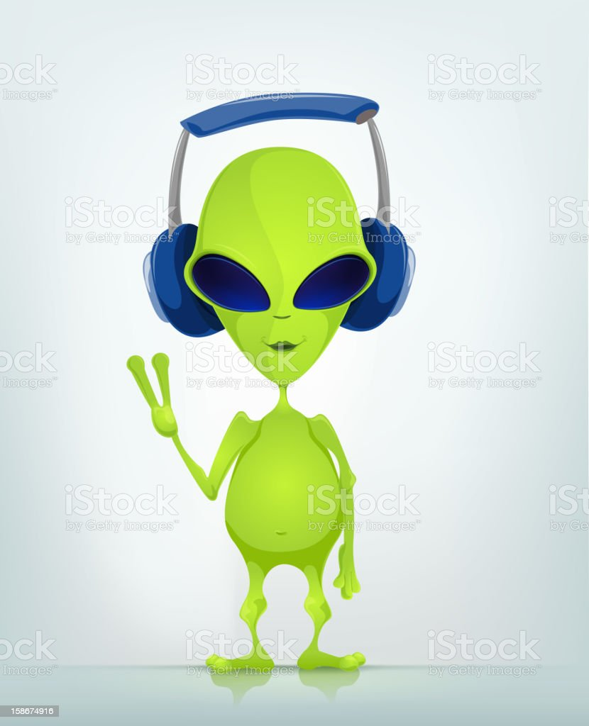 Funny Alien vector art illustration