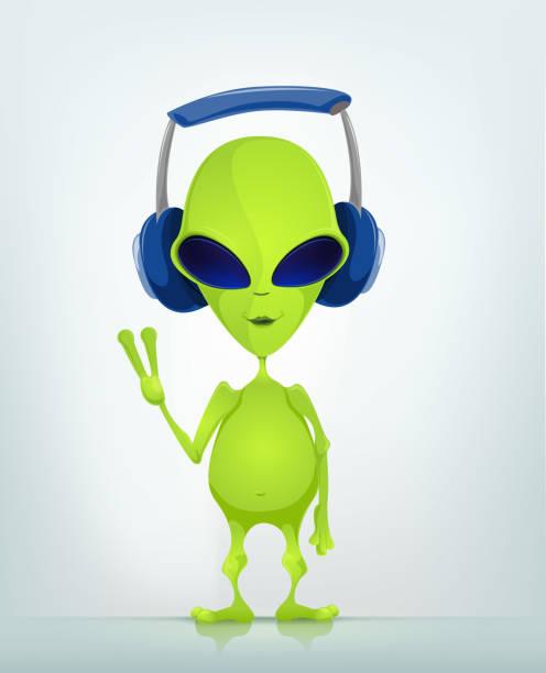 Funny Alien vector art illustration