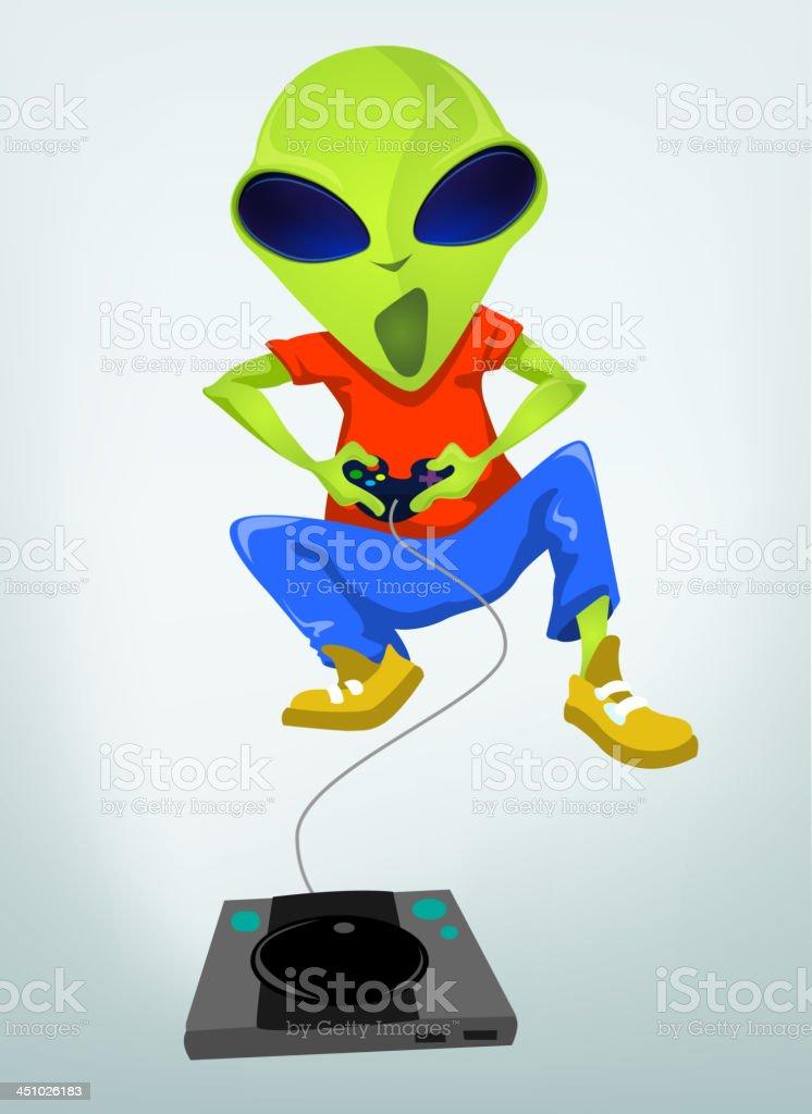 Funny Alien royalty-free stock vector art